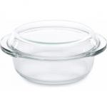Кастрюля стеклянная с крышкой (1,5 л) средняя