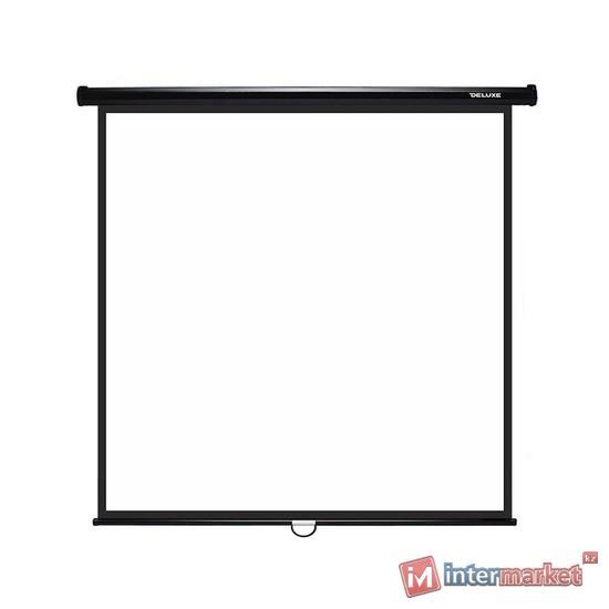 Проекционный экран, Deluxe, DLS-M203x, Настенный, 203x203, Matt white, Чёрный