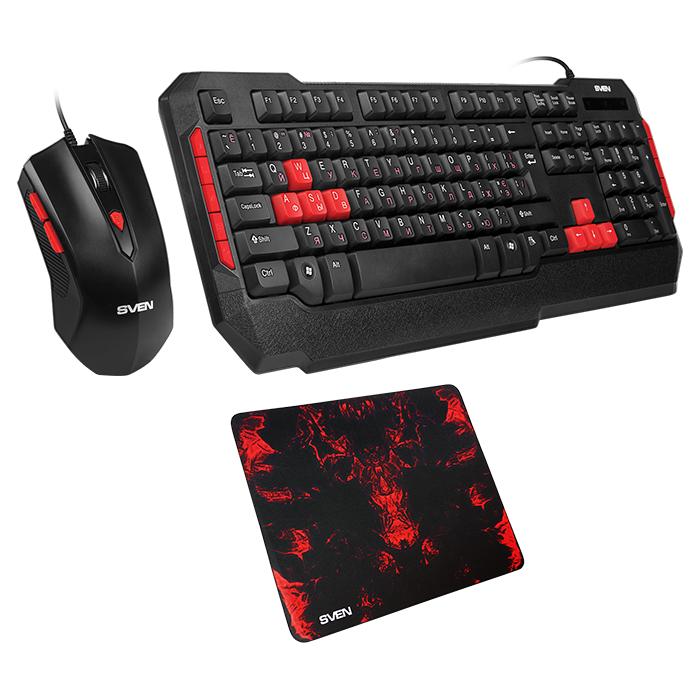 Игровой набор (клавиатура+мышь+коврик) SVEN GS-9000